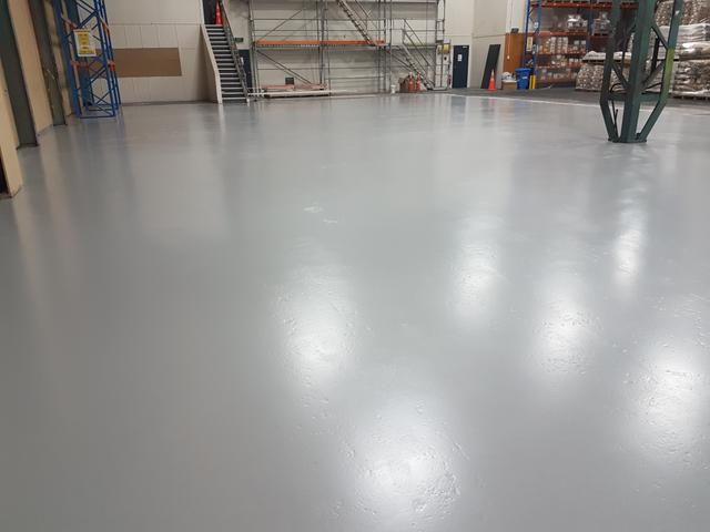 Floor coating project in Auckland