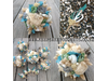 Beach theme wedding bouquets and button holes delivered around NZ