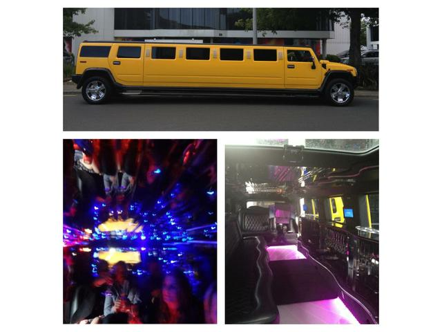 Our Yellow 15 seater Hummerzine .The only one in New Zealand .