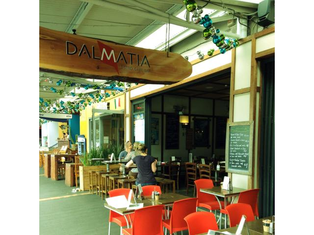Enjoy the menu while people watching at Dalmatia. The food is excellent.