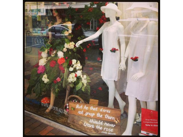 Roses Festival Window Display 2013
