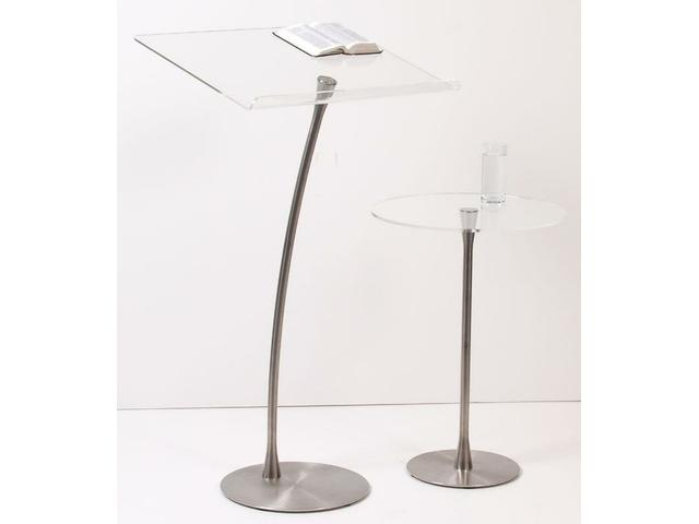 Acrylic Lectern and Side Table