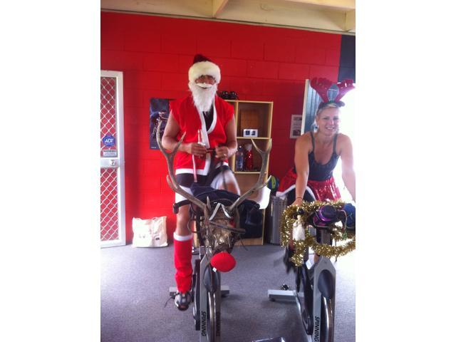 Santa on his RPM rain deer.  Xmas 2013