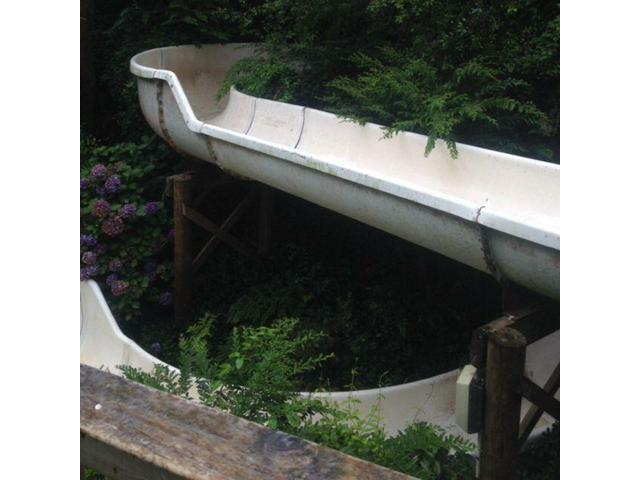 The longest open hot water slide in nz that weaves through the native bush