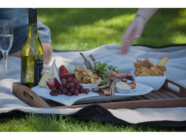 Platter on the lawn