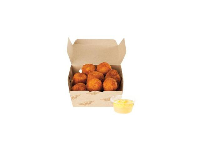 Motobites - 8 crumbed pumpkin, carrot, chickpea and ginger bites, with your choice of dipping sauce