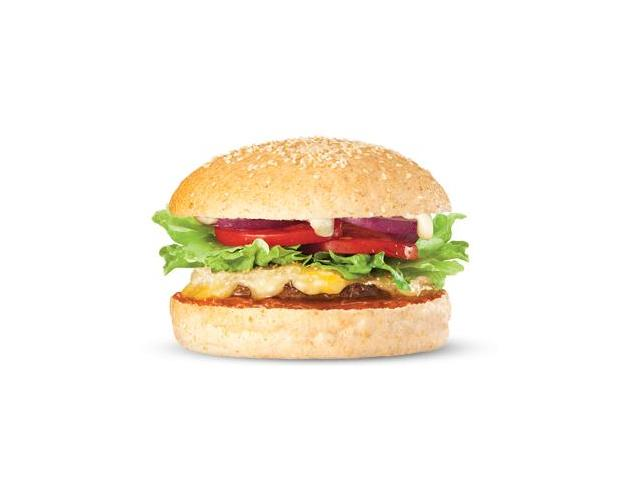 C N Cheese - 1/3 pound 100% pure NZ grass fed beef, melted cheddar, grated parmesan, salad, relish and aioli