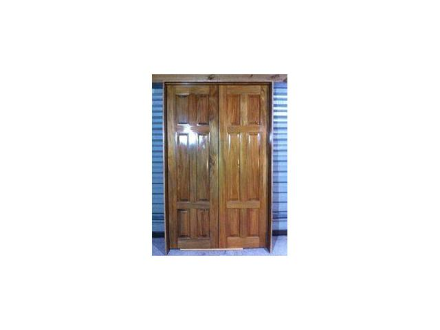 SOLID WOODEN FRENCH DOOR WITH 6 solid wooden panel.