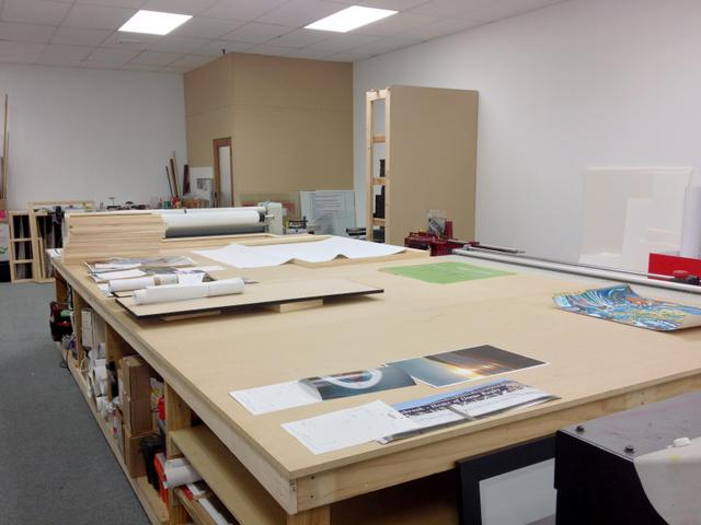 The Photo Gallery Workshop table sees plenty od jobs move accross it.