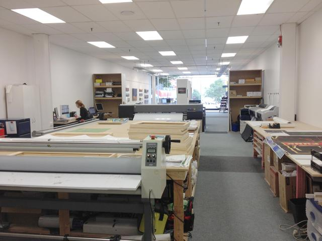 The Photo Gallery has a great space for printing, canvas printing, and framing
