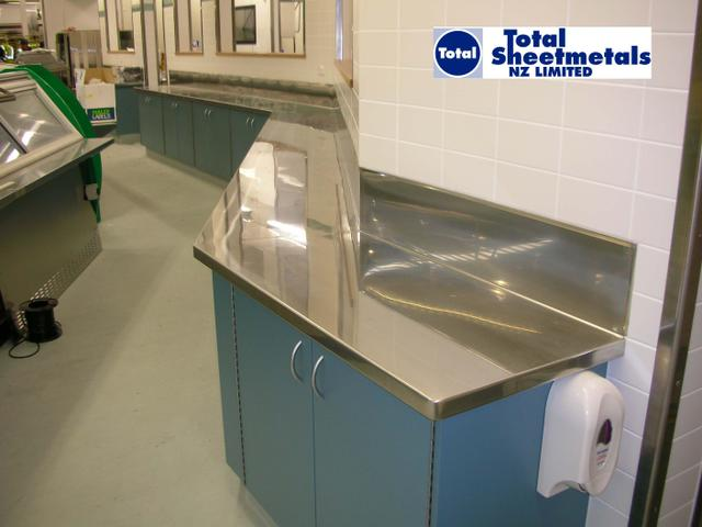 Commercial Stainless Steel Bench