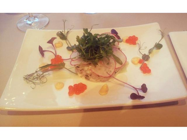 The delicious crab salad - starter