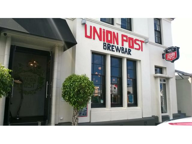 The Union Post Brewbar from the street.