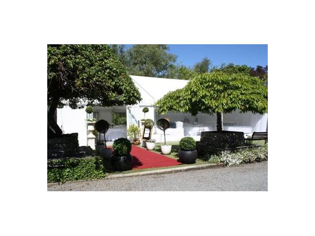Garden wedding marquee Kate Sheppard House
