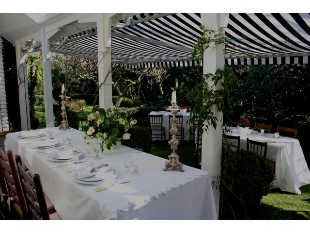 Garden verandah for wedding ceremony and reception Kate Sheppard House