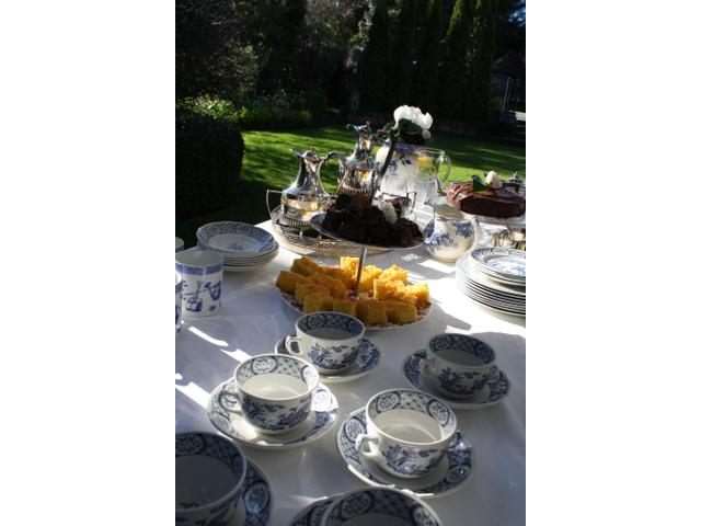 Afternoon tea for garden tours at Kate Sheppard House