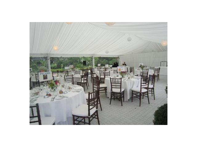 Marquee wedding reception at Kate Sheppard House