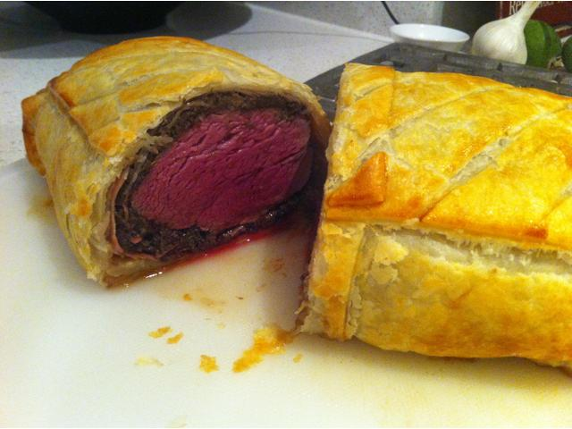 Beef Wellington with Westmere butchers eye fillet in the middle!