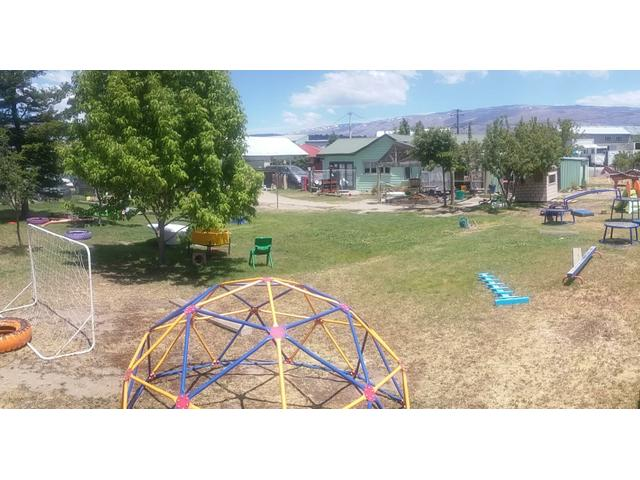 Our playground at Ngapara St - it's enormous and there is a wide variety of activities and equipment for the children to create their own play