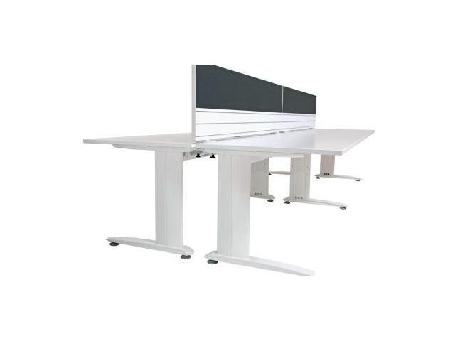 Straight desk white