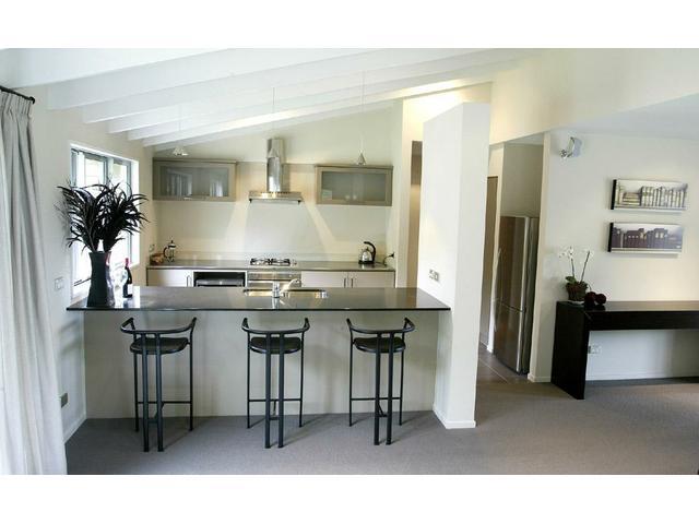 Kitchen area of Arrowfield Mews Apartment - Arrowtown