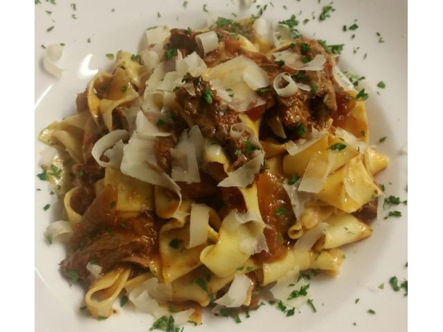 Home made fresh Papardelle with slow cooked lamb ragu.. Delicious!!!