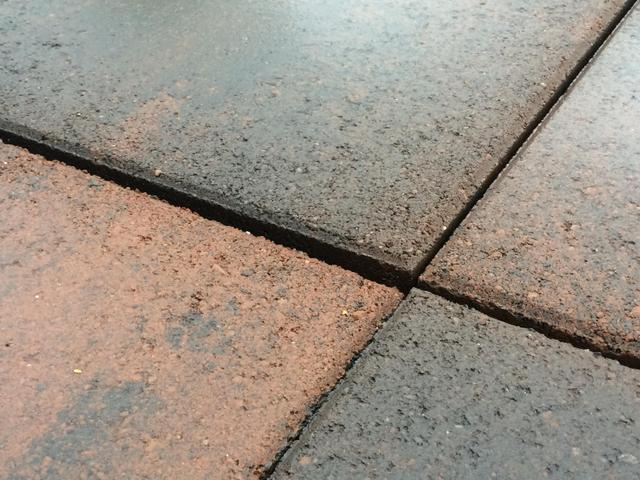 Here is the paving that Ray laid. Plenty of trip hazards!