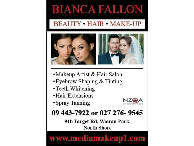 Bianca Fallon Hairstylist & Makeup Artist, Auckland & North Shore