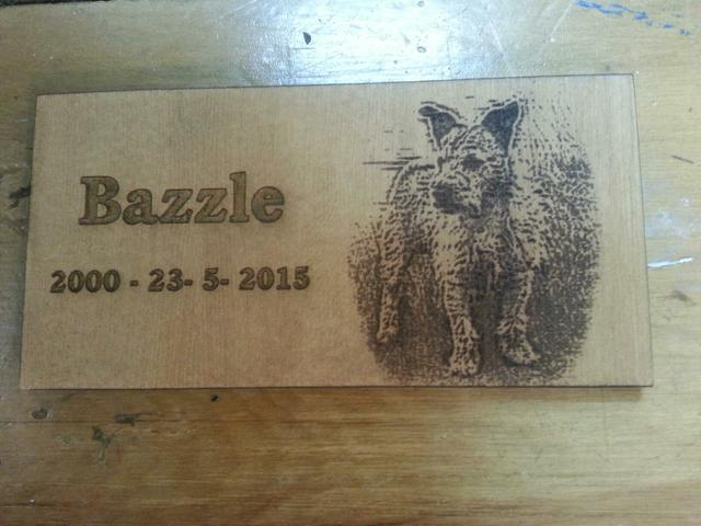 Personalised lazer engraving