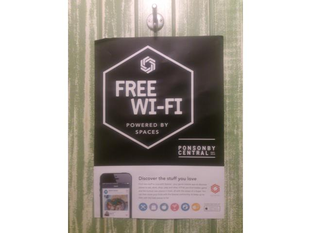 Free wifi with the Spaces app!