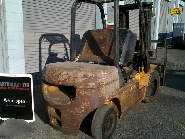 Forklift- Before Blasting