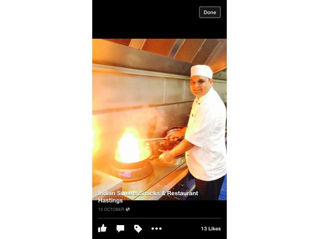 Head chef Vrinder