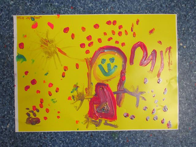 children learn to be creative and express their feelings threw paint.