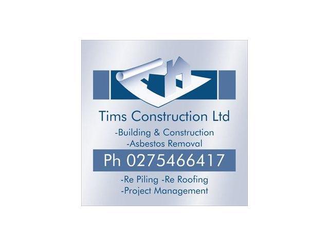 Tims Construction Ltd - Master Builder