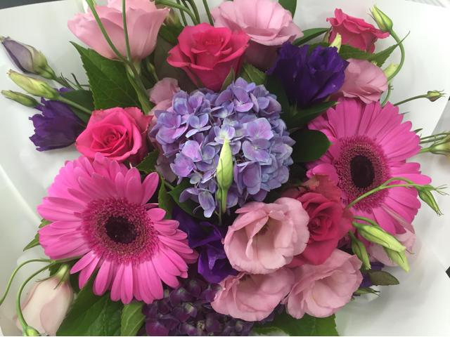 Delight (mixed bq in pinks and  purples $69 Standard or $129 Deluxe )