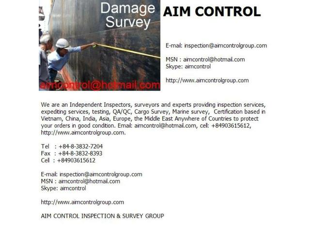 AIM Control is Global Third Party. Email: inspection@aimcontrolgroup.com, aimcontrol@hotmail.com, cell: +84903615612.