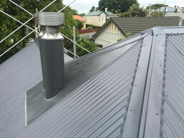 Flue flashings. Ace Roofing.