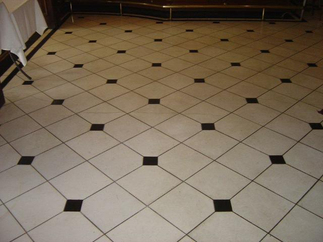 Marble floor before polishing
