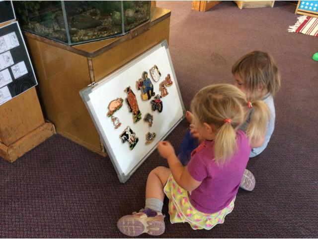 We create many literacy and numeracy opportunities throughout the day for children to experience language acquisition