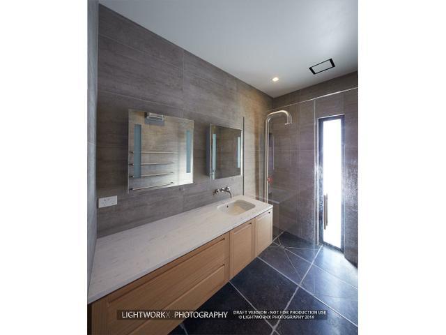 industrial cool bathroom