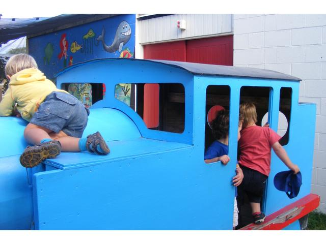 Thomas the Tank engine at our Gregg St centre is a favourite place to climb and play