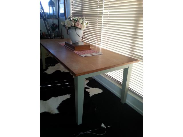 Dinning room tex table $700 or nearst offer.Its also 2.2 metres long.