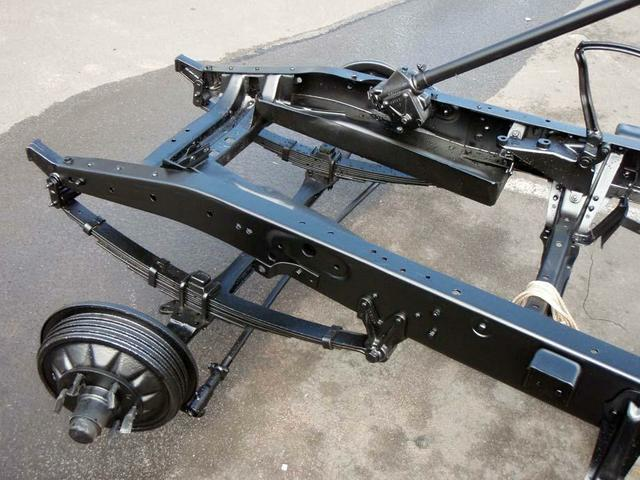 Classic truck chassis - finished in Resene Durepox epoxy black
