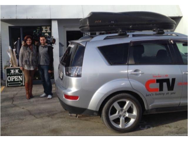 CTV crew at HARALDS Warehouse 47 Birmingham Drive. ChCh. Open 10-4 any day but Sunday  03 3387700