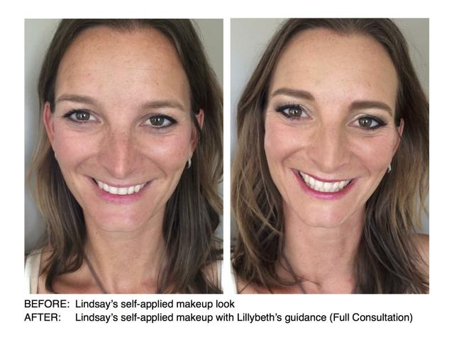 Before and After Lindsay's makeup lesson consultation (Self-applied makeup)
