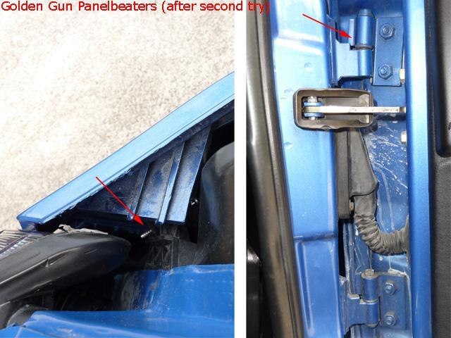 Bumper mounting and door hinge alignment by Golden Gun