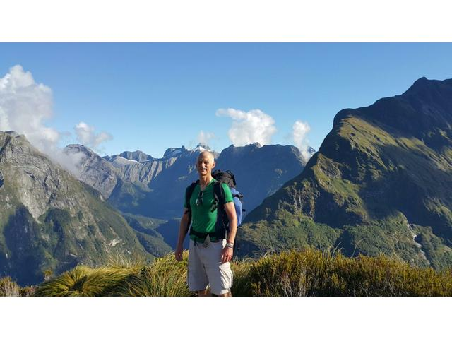 One of best views in NZ and one of the clearest days on the Milford Track!