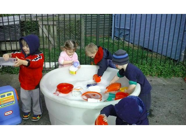 Learning to share and work together through play