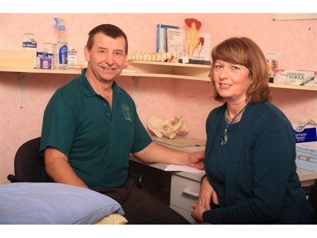 Gerry (osteopath) and Sally (masseur) work together as a team