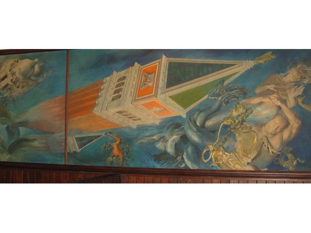 Mural inside Roccos restaurant